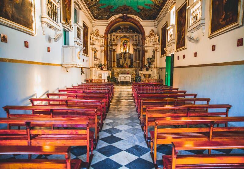 Церковь в Сальвадоре в Сальвадоре, Бахи, Бразилии стоковая фотография