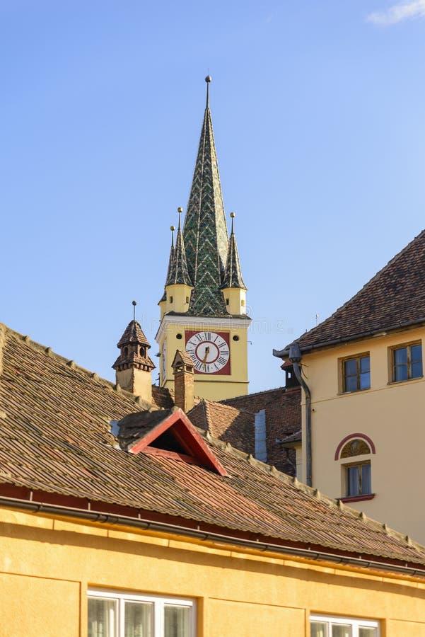 Церковь в средствах, Румыния St Margaret стоковая фотография