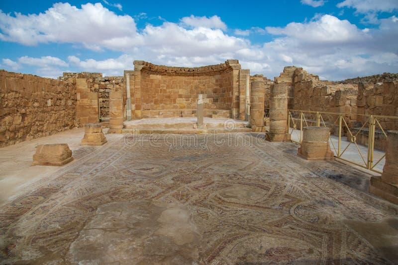 Церковь в старом городе Nabatean Mamshit стоковое изображение rf