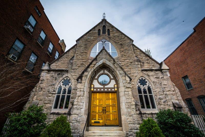 Церковь в холме Bolton, Балтиморе, Мэриленде стоковая фотография