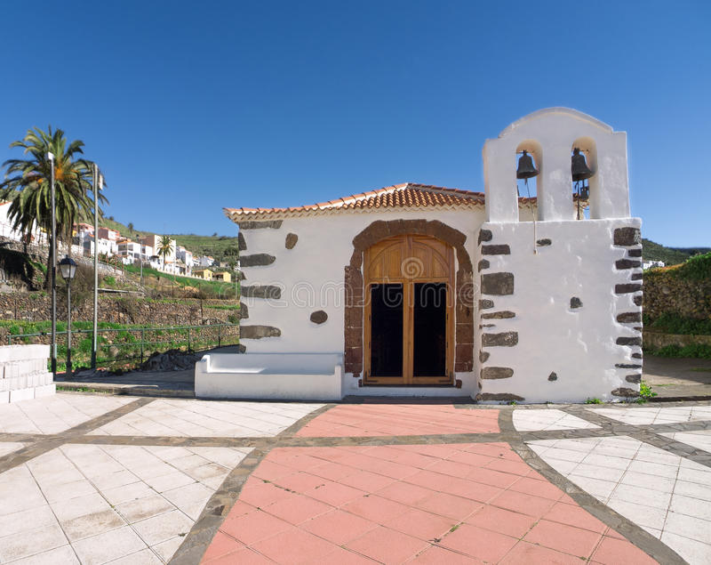 Церковь в Arure на Ла Gomera стоковая фотография rf