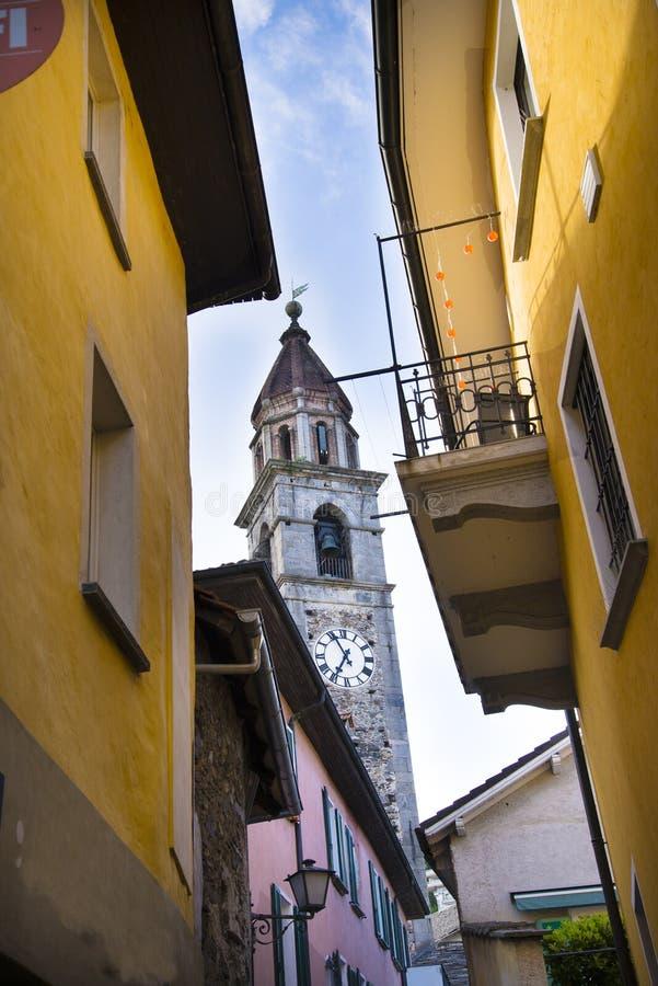 Церковь в Ascona, Тичино, Швейцарии стоковое изображение rf