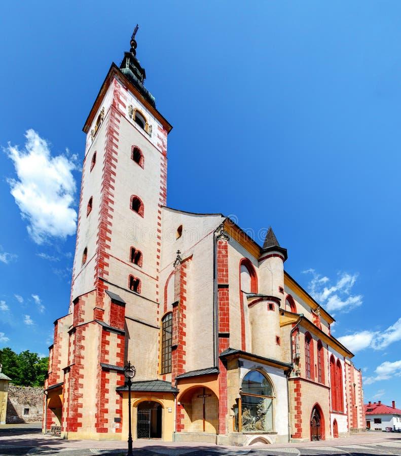 Церковь в Banska Bystrica стоковое фото rf