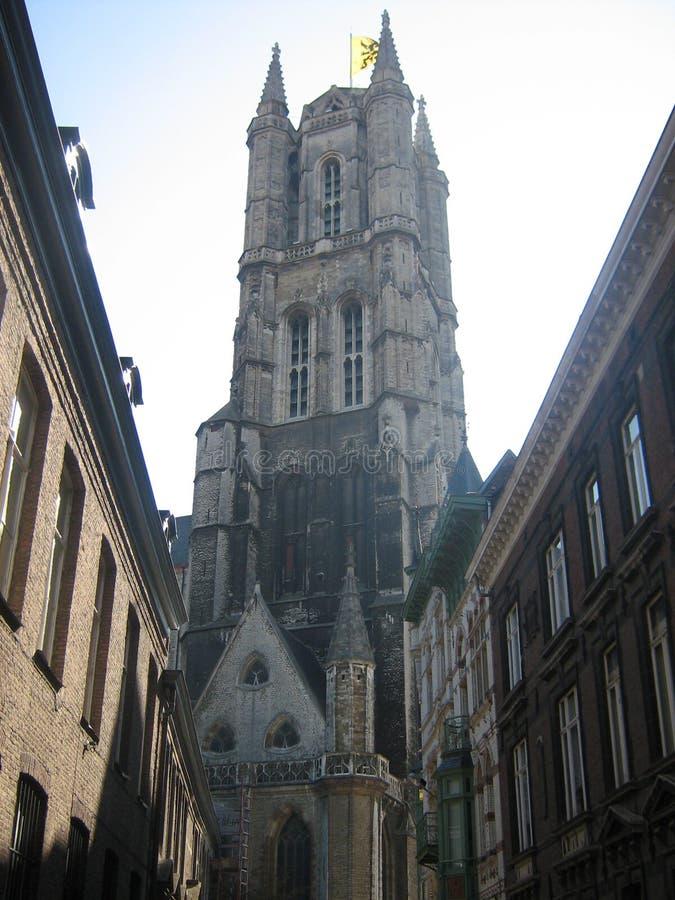 Церковь в Gent стоковая фотография rf