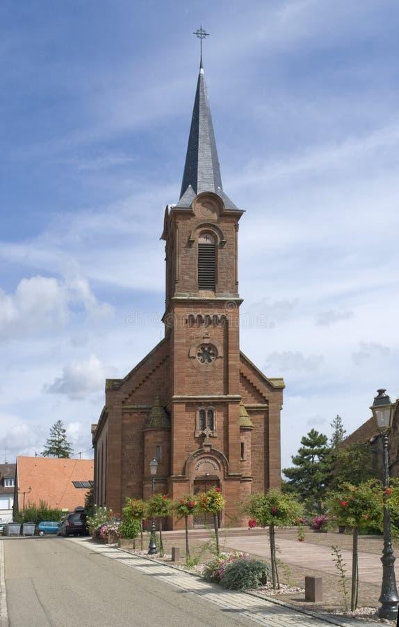 Церковь в Mittelbergheim стоковое фото rf