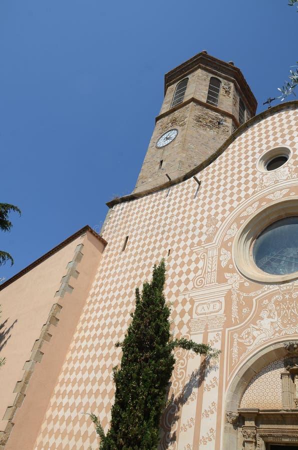 Церковь в pineda de mar стоковая фотография