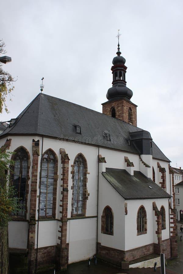Церковь в Saarbrucken стоковое фото rf