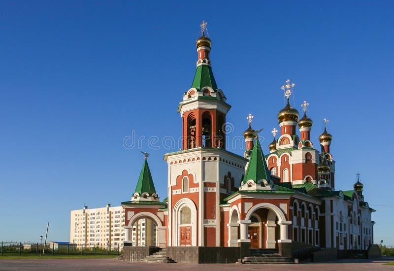 Церковь в Usinsk стоковое фото