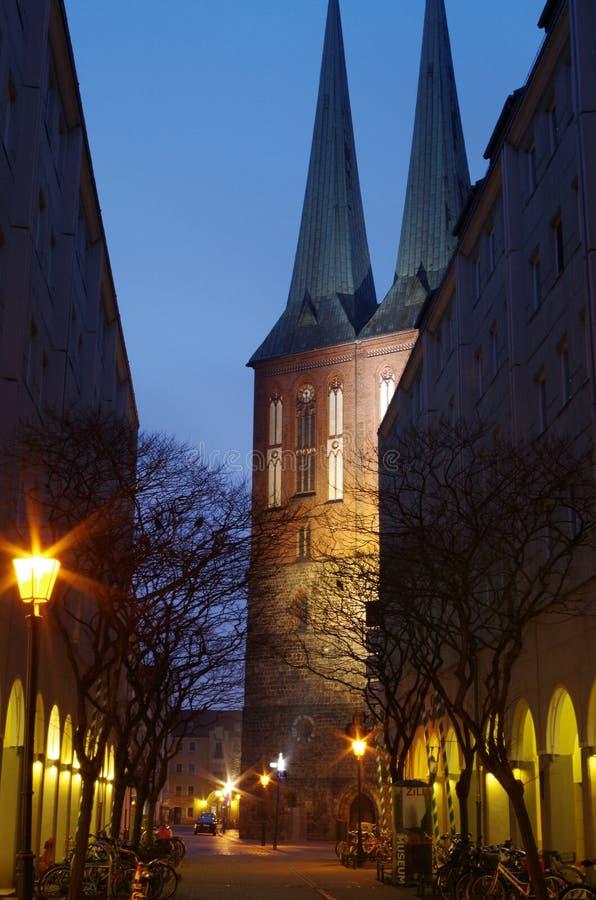 Церковь города St Nicholas и nikolai в Берлине стоковое фото rf