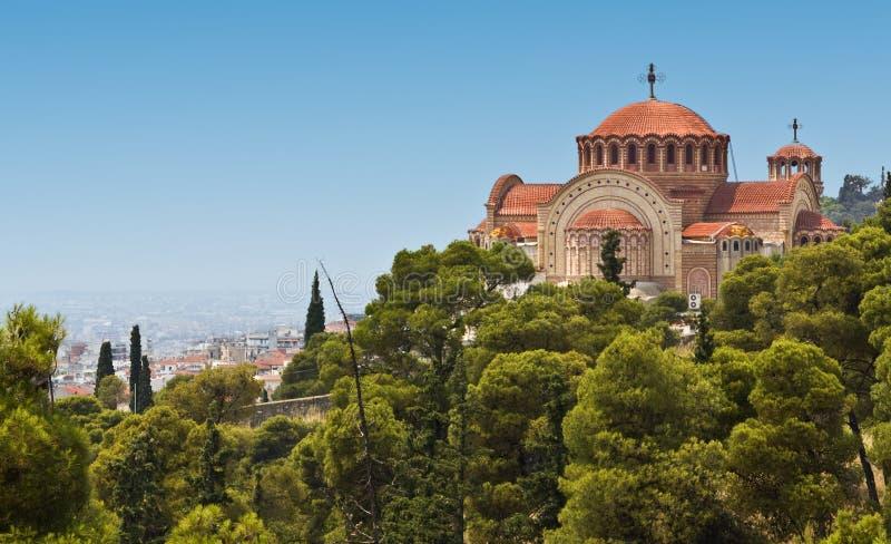 церковь Греция правоверная стоковые изображения