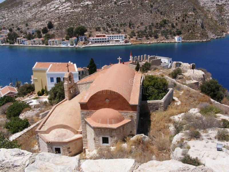церковь греческий kastellorizo правоверный стоковое изображение