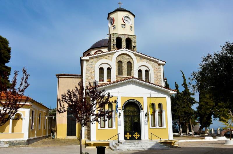 Церковь девой марии Panagia в Кавале стоковое изображение