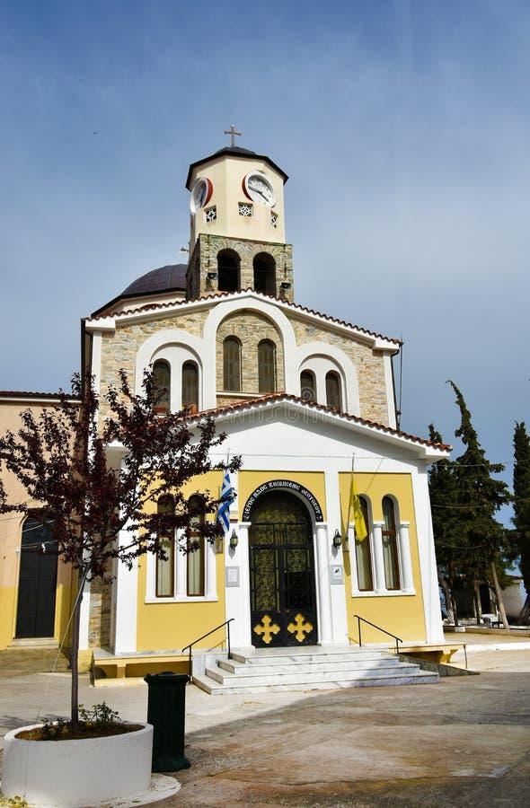 Церковь девой марии Panagia в Кавале стоковое фото rf