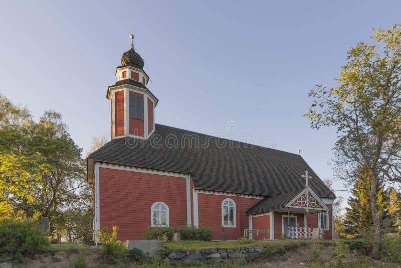 церковь деревянная стоковая фотография rf