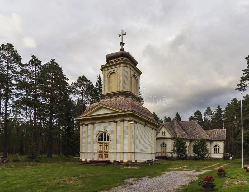 церковь деревянная стоковое изображение