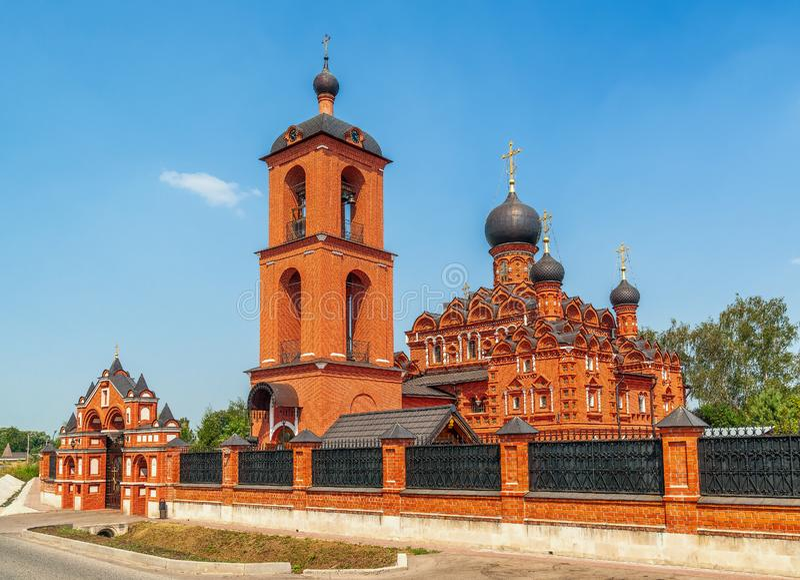 Церковь значка Казани матери бога Область Москвы E стоковое фото