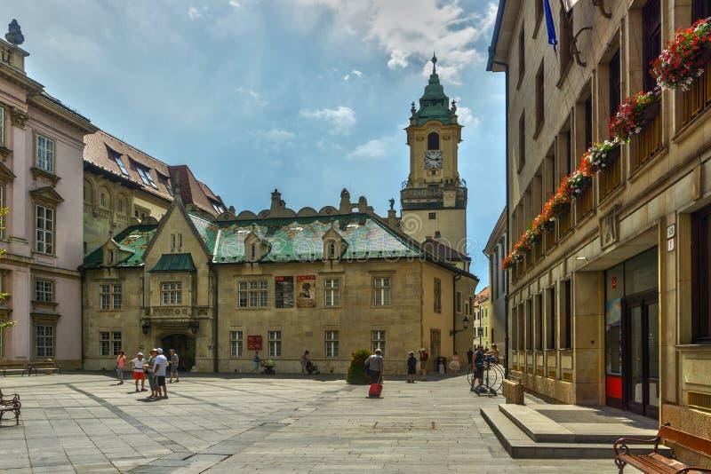 Церковь иезуита на квадрате примата в Братиславе стоковое изображение rf