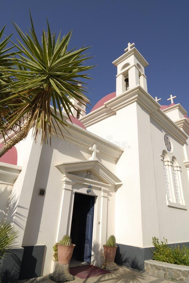 церковь Израиль 7 capernaum апостолов стоковая фотография