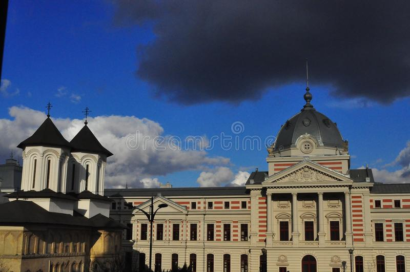 Церковь и больница ea› ColÈ стоковая фотография