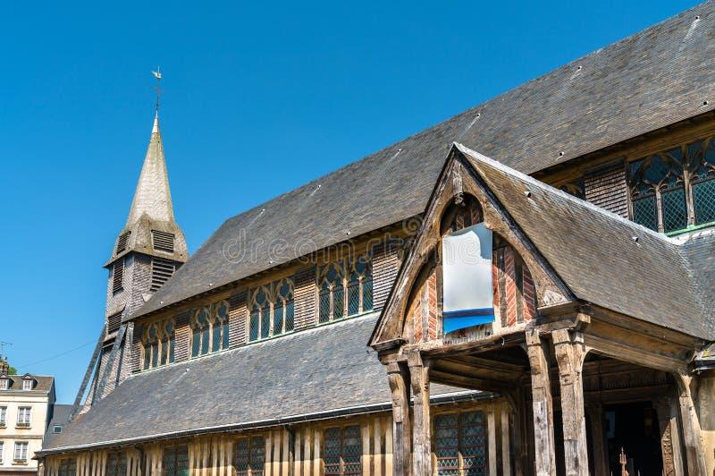 Церковь Катрина Святого в Honfleur - Нормандии, Франции стоковые изображения