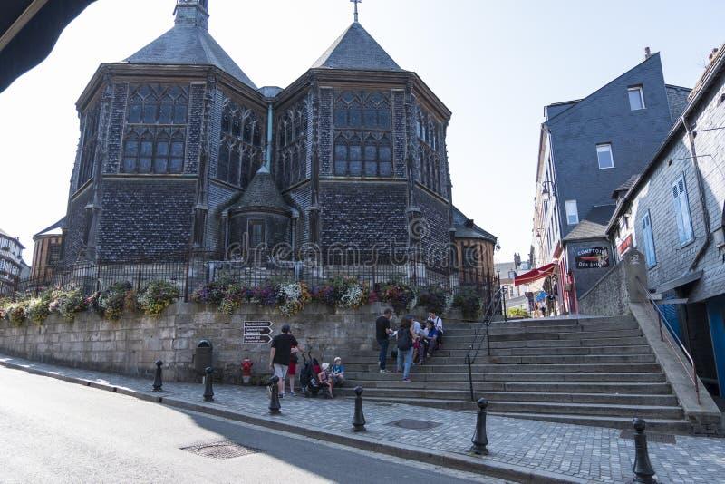 Церковь Катрин Святого в старом городке Honfleur Церковь Франции самая большая изготовленная в тимберс Франция Нормандия стоковые изображения