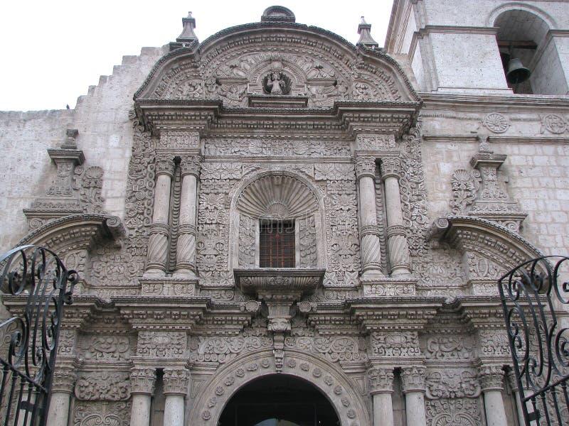 Церковь компании в Arequipa, Перу стоковые фото