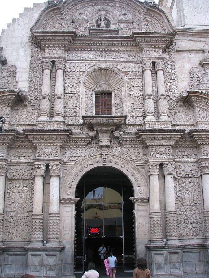 Церковь компании в Arequipa, Перу стоковая фотография