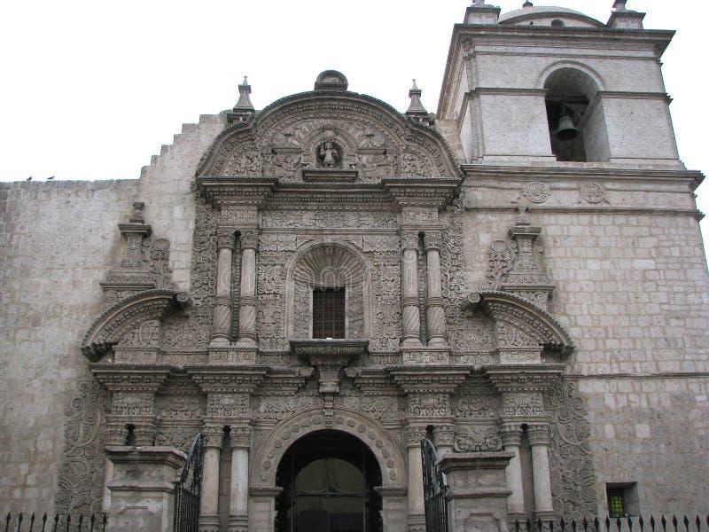 Церковь компании в Arequipa, Перу стоковое фото