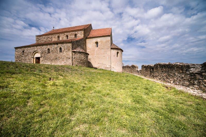 Церковь-крепость в Cisnadioara стоковое фото rf