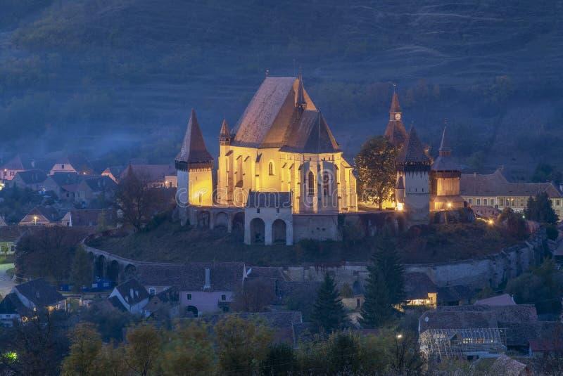 Церковь-крепость Biertan стоковое фото