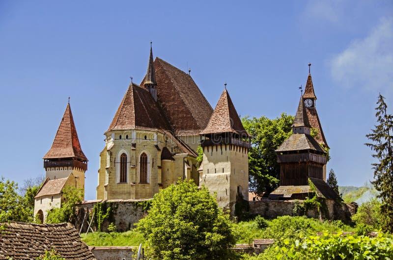 Церковь-крепость Biertan стоковое изображение rf