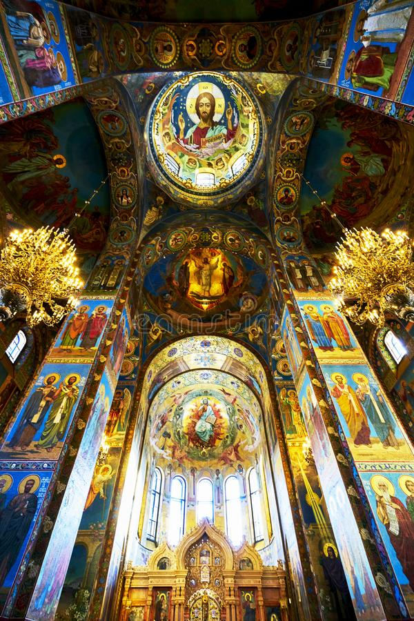 церковь крови наш разленный спаситель святой petersburg России стоковое изображение