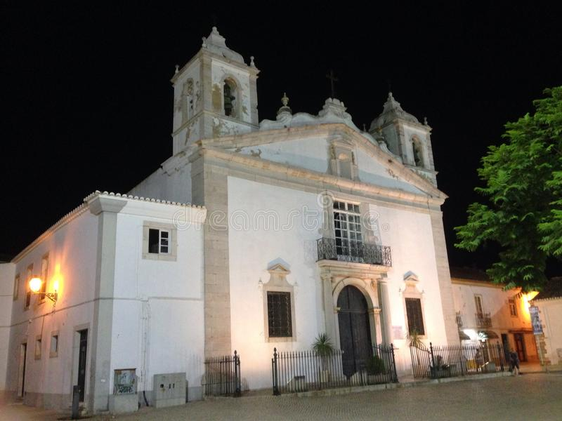 Церковь Лагос Алгарве Португалия Santa Maria стоковое изображение