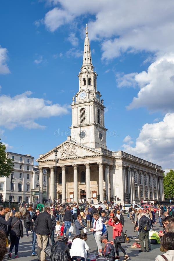 Церковь Мартин-в--полей St на квадрате Trafalgar стоковая фотография rf
