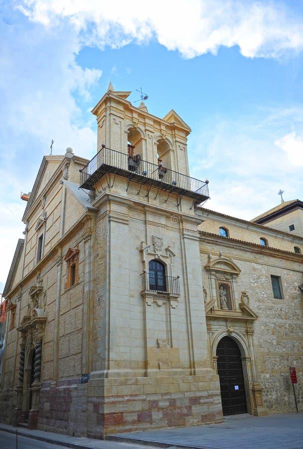 Церковь мученика St Peter в Lucena, провинции Cordoba, Испании стоковые фотографии rf