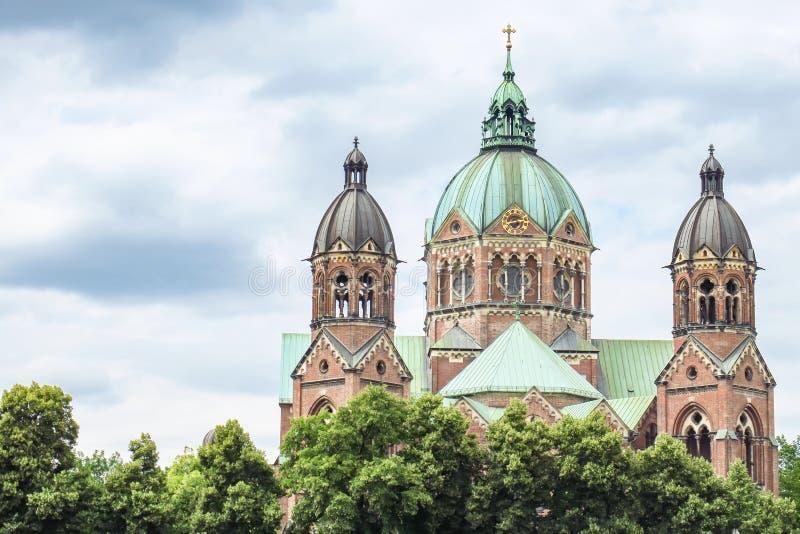 Церковь Мюнхен Lukas Святого стоковое фото