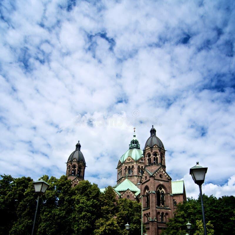 Церковь Мюнхен St Lukas стоковые фото