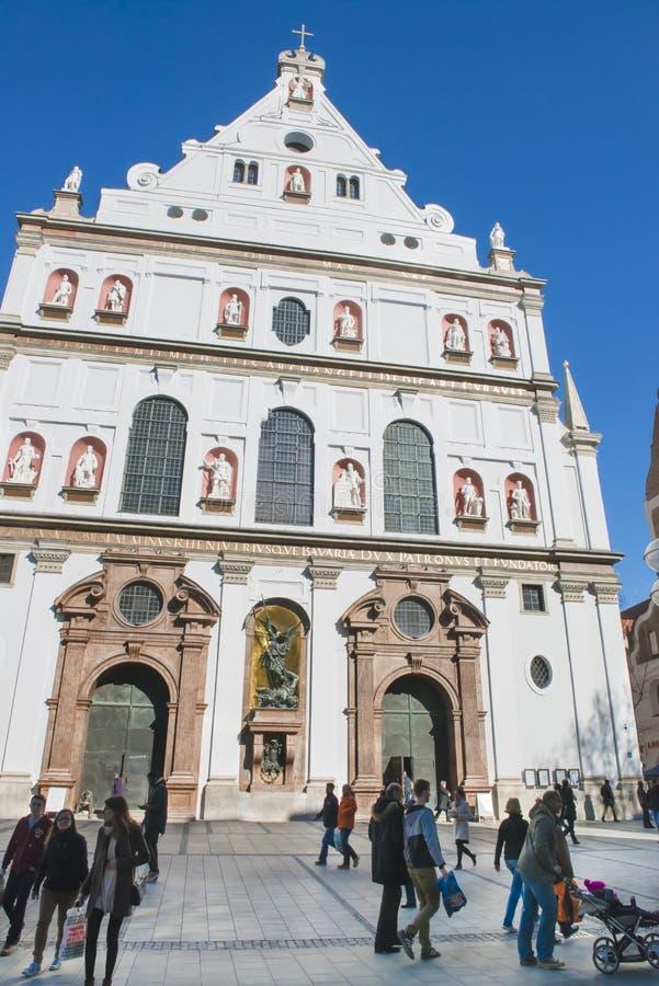 Церковь Мюнхен St Michael стоковое изображение rf