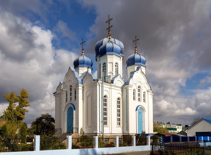 Церковь наша дама Казани Panino Россия стоковое фото rf