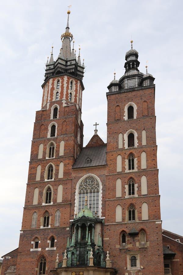 Церковь нашей дамы Assumed в рай в Кракове Польше стоковое фото rf