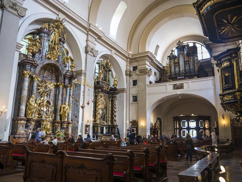 """Церковь нашей дамы Победоносн также сослалась как святыня младенца Иисуса Праги, в Mala Strana, """"меньший квартал """" стоковые фотографии rf"""