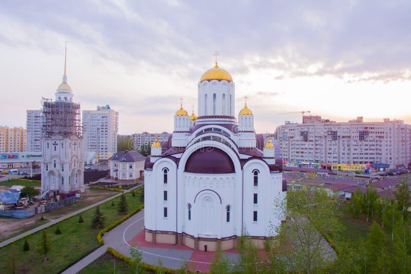 Церковь на заходе солнца стоковые изображения rf