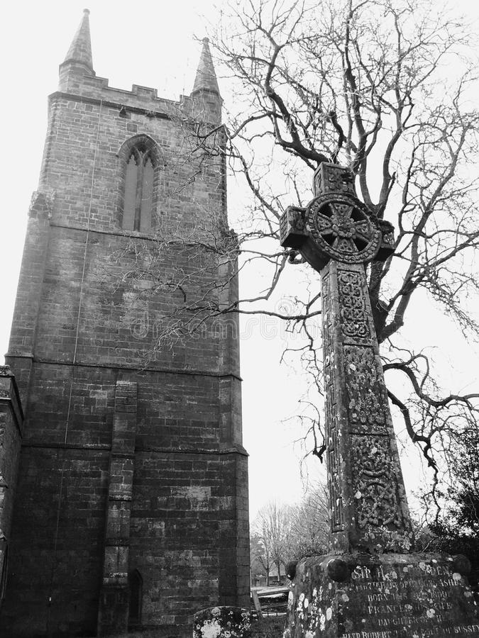 Церковь на канонах ashby стоковое изображение