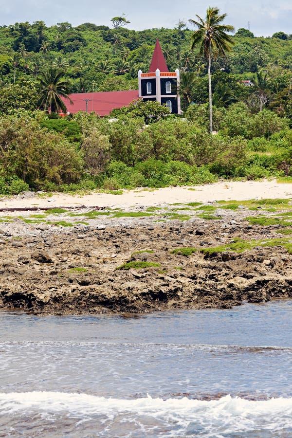 Церковь на острове Eua стоковые изображения