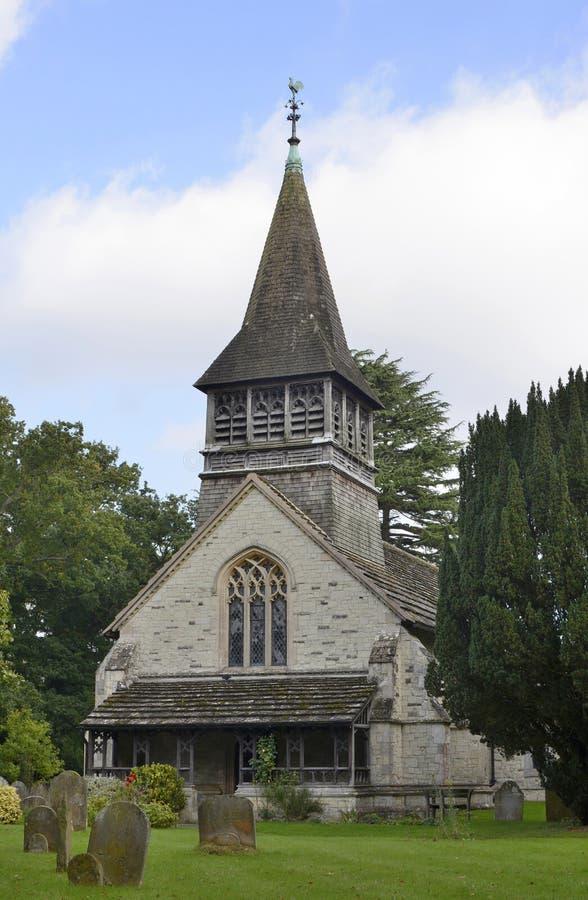 Церковь на Leigh в Суррей. Англия стоковая фотография