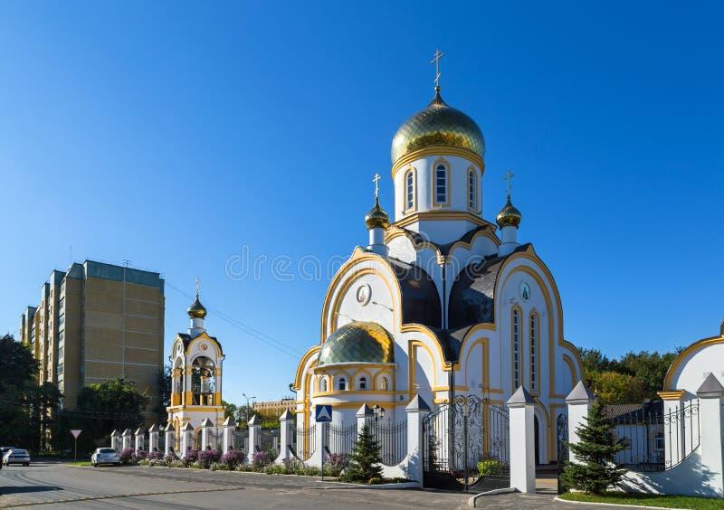 Церковь Николаса и Александры, королевского подателя страсти Курск r стоковое фото rf