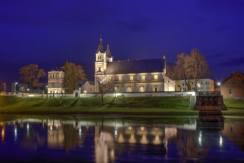 Церковь ночи стоковая фотография rf