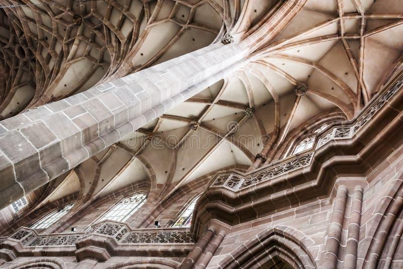 Церковь Нюрнберга внутрь стоковая фотография rf