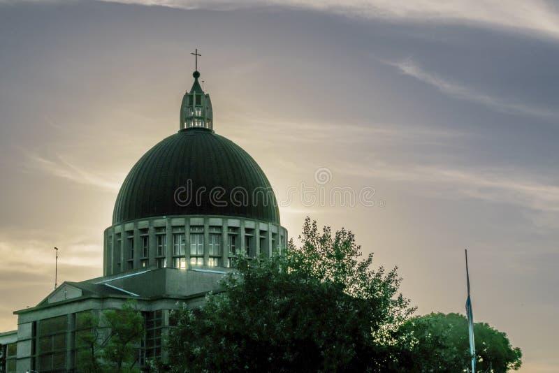 Церковь основы города San Nicolas стоковое фото rf