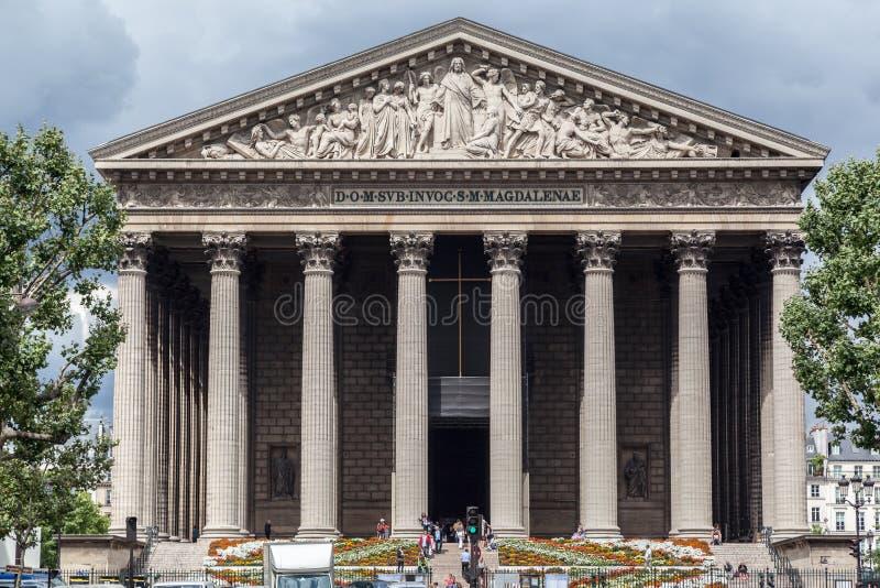 Церковь Париж Madeleine Ла стоковые изображения